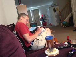 My view during morning Bible time
